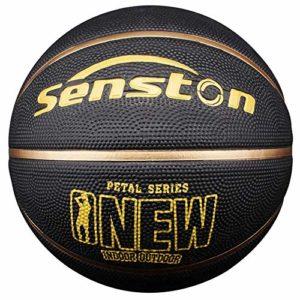 Senston Ballon de Basketball Mixte Couleur Enfant Surface Rugueuse, Extérieur et intérieur -Taille 7