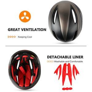 Shinmax Casque de vélo, Certifié CE, avec aimantée Visière magnétiques Amovibles Bouclier de Protection pour Hommes Femmes Montagne et Route Protection de sécurité pour Adulte Ski & Snowboard