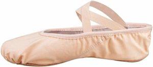 Skyrocket Flying Filles Femme Demi Pointe Toile Chaussures de Ballet Doux Chaussons de Danse pour Gym Yoga Danse (22 EU, Rose)