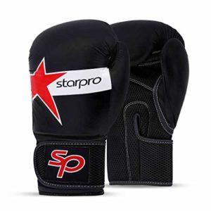 Strapro Gants de Boxe Muay Thai – Bon pour Sparring Kickboxing Combats Punching Fitness Exercice Sac Résistant Mitaines D'entraînement | 10oz 12oz 14oz 16oz | Cuir Synthétique pour Hommes et Femmes