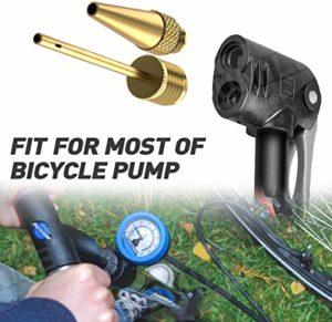SuMile Lot de 12 adaptateurs pour Pompe à vélo en cuivre pour Valve de vélo de Voiture sans collecteur d'air ni décoloration DV AV SV Adaptateur pour compresseur de vélo Pompe à Pied Voiture