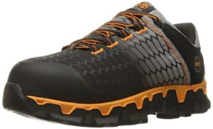 Timberland PRO Men's Powertrain Sport Alloy Toe SD+ Industrial and Construction Shoe, Grey Synthetic/Orange, 10.5 W US