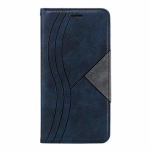 Tosim Coque Galaxy A7 2018, Portefeuille Étui en Cuir Synthétique Fonction Stand Case Housse Folio à Rabat Compatible avec Samsung Galaxy A7 2018/A750FN – TOYTE030070 Rouge