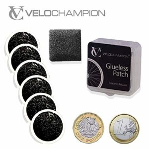 VeloChampion – Kit de 6 rustines autoadhesives – Puncture Repair Patches Self-Adhesive Pack of 6