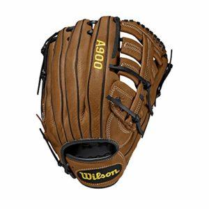 WILSON A900 Gants de Baseball Men's, British Tan/Black, 12.5 inch LHT