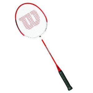 Wilson Raquette de Badminton Homme/Femme, Jeu offensif, Amateurs, Champ 90, Taille 4, Rouge/Blanc, WRT8721304