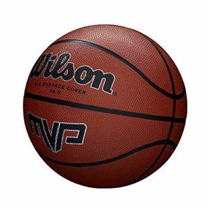 Wilson,Ballon de Basketball, MVP Basketball, Orange, Taille : 5, Caoutchouc, intérieur et extérieur, WTB1417XB05
