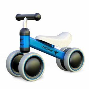 XIAPIA Vélo Bébé sans Pédales Draisienne 10-24 Mois Baby Walker Jouets pour 1 an Bébé Jouet Petit Premier Cadeau Anniversaire Garçon/Fille (Canard Rose) (Rose) (Bleu)