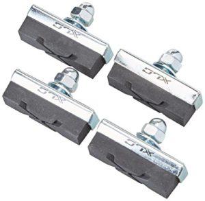XLC Lot de 4Patins de Freins BS-C04 universels 2500380900, 40mm, Noirs