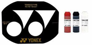 YONEX Cordage pour raquette de badminton yonex Pochoir d'encre et pochoir Yonex Black Stencil Ink