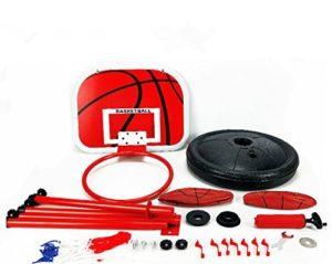 YunNasi Panier de basket stable et réglable en hauteur Avec ballon & pompe Convient pour enfants et adolescents, 150cm